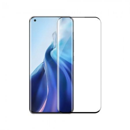 Стъклен протектор за целия екран No brand, За Xiaomi Mi11, 3D, 0.3mm, Черен - 52669