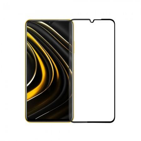 Стъклен протектор за целия екран No brand, За Xiaomi Pocophone M3, 3D Full Glue, 0.3mm, Черен - 52671