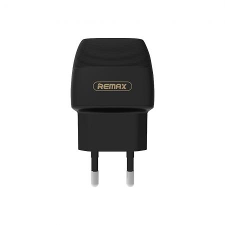Мрежово зарядно устройство, Remax Flinc RP-U29, 5V/2,1A Универсално, 2 х USB, Бял, Черен - 14841