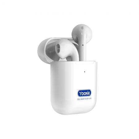 Bluetooth слушалки Yookie YK S18, Бял – 20555