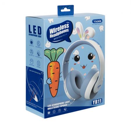 Слушалки с Bluetooth Yookie YB11, AUX, Различни цветове - 20546