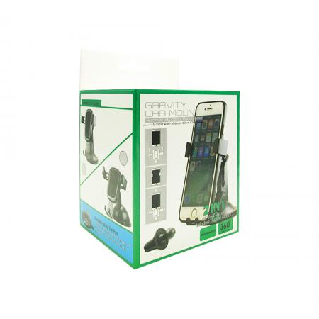 Универсална стойка за телефон No brand, Черен - 17339