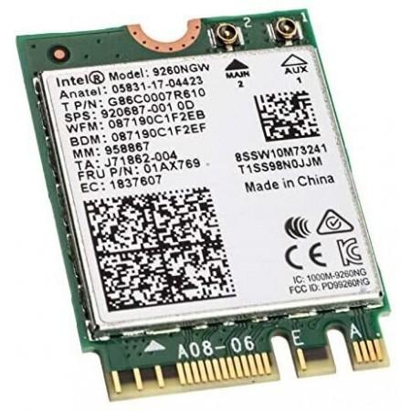 Intel Wireless-AC 9260 - Мрежов адаптер - M.2 2230 - 802.11b, 802.11a, 802.11g, 802.11n, 802.11ac, Bluetooth 5.0