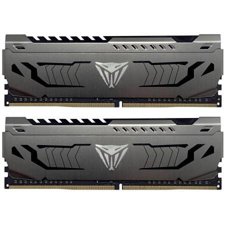 Patriot Extreme Performance Viper Steel - DDR4 - 32 GB: 2 x 16 GB - DIMM 288-PIN - 3200 MHz / PC4-25600 - CL16 - 1,35 V - небуфериран - не-ECC - gunmetal-сив